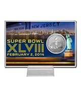 *** Super Bowl XLVIII Highland Mint Etched Silver Plated Coin Card *** (NEW) in Tacoma, Washington
