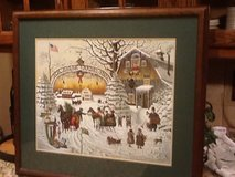 Charles Wysocki Winter print  (framed and double matted) in Naperville, Illinois