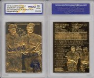BABE RUTH & LOU GEHRIG Murderer's Row 23KT Gold Card Graded 10 in Fort Lewis, Washington