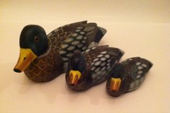 3 Wooden Carved Ducks in Naperville, Illinois