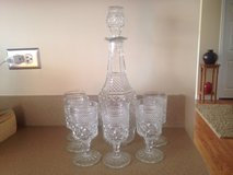 Vintage Decanter & Goblets in Bolingbrook, Illinois