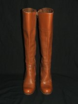 "Vintage Ladies Knee High Brown Leather Boots 6 1/2 M ""The Wild Pair"" in Naperville, Illinois"