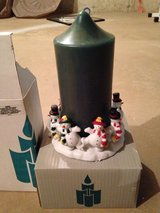 Party lite snowman candle holder and candle in Joliet, Illinois
