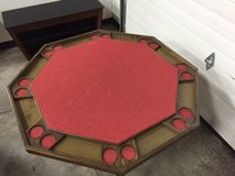 8 Station Folding Poker Table w/tabletop cover - OBO in Aurora, Illinois