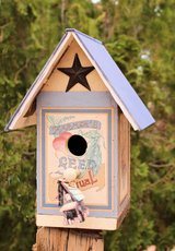 Beautiful bird House, made from Recycled wood and a Book in 29 Palms, California