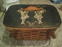 Hand Painted Picnic Basket in Joliet, Illinois