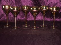 Solid Brass Goblets Set of 6 in St. Charles, Illinois