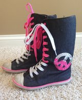 Justice Girls Denim Boots-Size 3 in Plainfield, Illinois