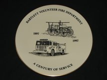 Bartlett Fire Department 100th Anniversary Commemorative Plate in Westmont, Illinois