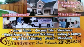 J.B. HANDYMAN 281-354-6414 in The Woodlands, Texas