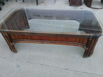 Pier 1 Bamboo / Glass Coffee Table in Fort Campbell, Kentucky