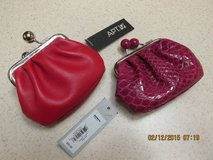 2 Red Leather Coin Purses - New w/Tags in Kingwood, Texas