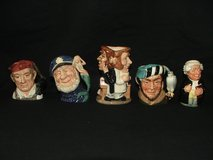Royal Doulton Toby Mugs Jugs Collection Made in England in Plainfield, Illinois