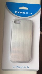 2 NIB silver iphone 5/5S cases by Dynex in Fort Campbell, Kentucky