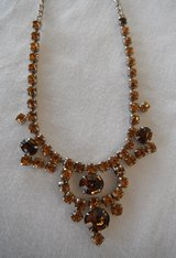 "Vintage Amber-colored Rhinestone 6-1/2"" Choker-style Necklace in 29 Palms, California"