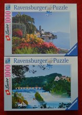Ravensburger Puzzle lot of 2 x 1000 -Swiss Collection -Cascate del Reno/ Briss in Chicago, Illinois