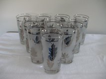 10 Silver Leaf Pattern Drinking Glasses in Morris, Illinois