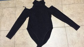 Black Leotard with Cutout Sleeves, Size Large in Houston, Texas