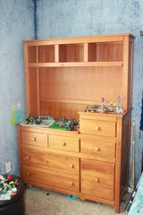 changing table dresser & hutch in DeKalb, Illinois