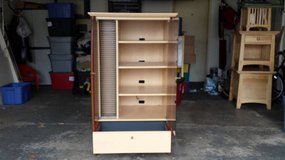 Maple Audio/Electronics Cabinet with glass doors in Algonquin, Illinois