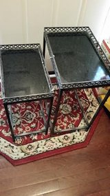 Iron Black Marble 2 Piece Stack Table Set in Fort Campbell, Kentucky