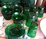 Green Glass Dishes in Baytown, Texas