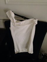 White cotton one shoulder women's small with built in bra in Yorkville, Illinois