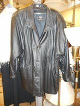 Ciel by Leather Fashions 3/4 Length Black Leather Jacket Size XL in Chicago, Illinois