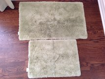 2 Light Green Restoration Hardware Plush Pile Bath Rugs in Plainfield, Illinois