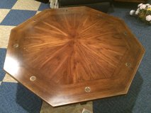 vintage coffee table w/glass top protection in Naperville, Illinois