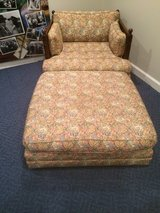 vintage tapestry love seat w/ottoman in Chicago, Illinois