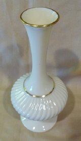 "Savoy Bud Vase by Lenox China, 7"" tall, with Gold Trim in 29 Palms, California"