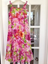 Pink Flowered Hawaiian Dress Size 6-8: Rare Editions Brand from Von Maur in Naperville, Illinois