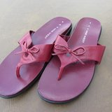 Nine West sz 8M Red Leather Sandals in Lockport, Illinois