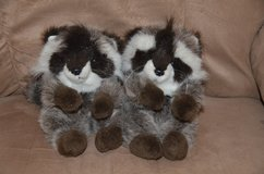 Vintage 1991 La-z-boy plush Raccoons in Alamogordo, New Mexico