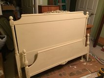 Antique Full Size Bed Cream in Aurora, Illinois