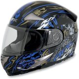 AFX FX-90 Blue Shade Helmet with new Smoke anti fog shield in Naperville, Illinois