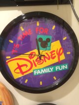 Disney family fun clock in Plainfield, Illinois