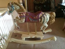 carousel wood  rocking horse-adult size in Chicago, Illinois