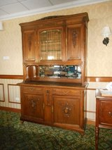 Antique American Quartersawn Tiger? Oak China Cabinet & Sideboard in Chicago, Illinois