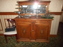Antique American Quartersawn Tiger? Oak China Sideboard in Chicago, Illinois