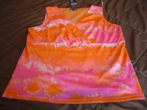 NEW Chaps 2X pink multi colored tank top in Fort Riley, Kansas