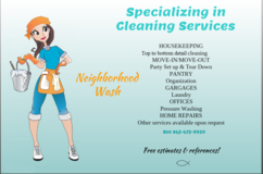 Valentines  Day gift cards for a detailed home cleaning in Beaufort, South Carolina