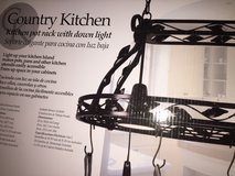 Country  pot rack w/ down light in Travis AFB, California