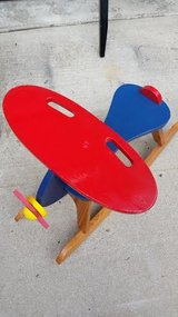 Red Wood Airplane Rocker in Clarksville, Tennessee
