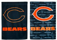 "Flag - Fiber Optic - Chicago Bears - 12 1/2"" x 18"" - as is in Fort Lewis, Washington"