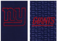 "Flag - Fiber Optic - NY Giants - 12 1/2"" x 18"" - as is in Fort Lewis, Washington"