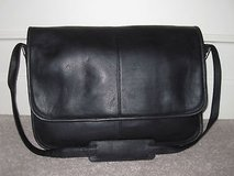Leather Messenger Computer Laptop Bag - black in Fort Leonard Wood, Missouri