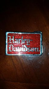 Red / Silver / Harley Davidson Belt Buckle in Fort Campbell, Kentucky