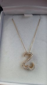 14kt Yellow Gold Open Heart Pendant Necklace - NEW in Plainfield, Illinois